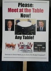 Please: Meet at the Table Now!